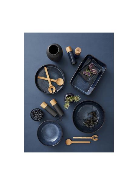 Komplet młynka do soli i pieprzu z kamionki Bizz, 2 elem., Czarny, beżowy, Ø 5 x W 17 cm