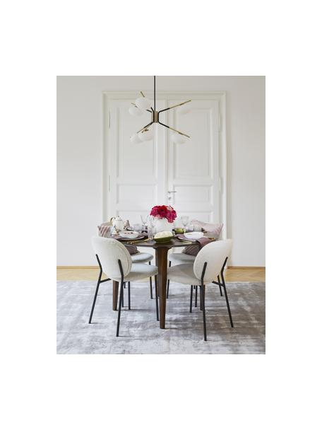 Tavolo rotondo in legno massello Archie, Legno di mango massello verniciato, Legno di mango, scuro verniciato, Ø 110 x Alt. 75 cm