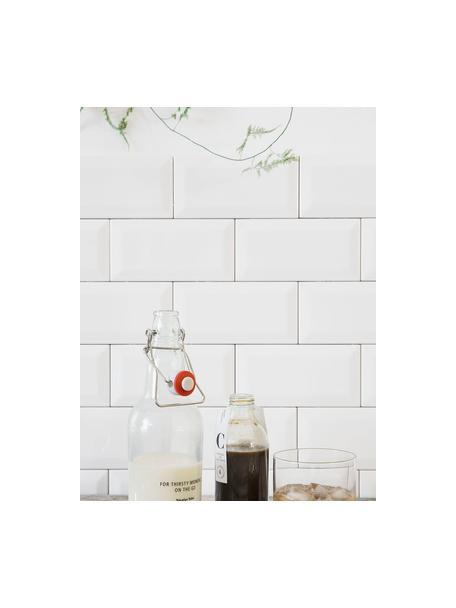 Flasche Bottle, Flasche: Glas, Verschluss: Porzellan, Silikon, Halterung: Edelstahl, Transparent, Ø 8 x H 25 cm