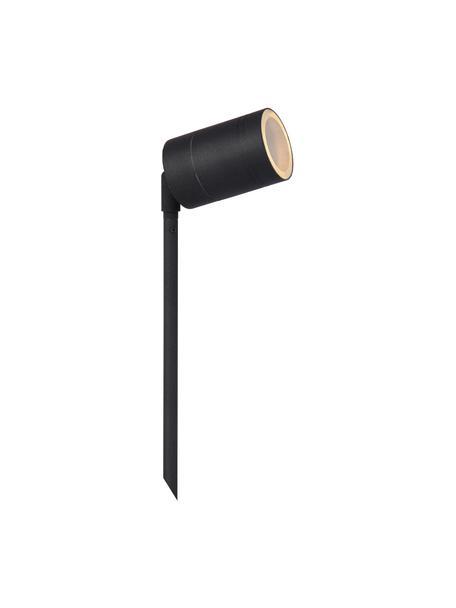 LED-Bodenleuchte Arne mit Stecker, Lampenschirm: Stahl, beschichtet, Schwarz, Ø 6 x H 36 cm