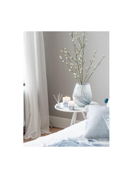 Duftkerze Agate (Früchte), Behälter: Glas, Blau, Weiß, Ø 9 x H 10 cm