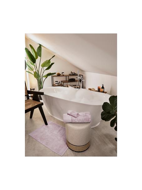 Tappeto bagno antiscivolo Premium, 100% cotone, qualità pesante 600g/m², Rosa cipria, Larg. 50 x Lung. 70 cm