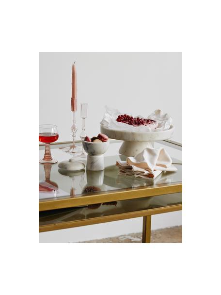 Marmorierte Tortenplatte Isop, Ø 30, Marmor, Weiß, Ø 30 x H 11 cm