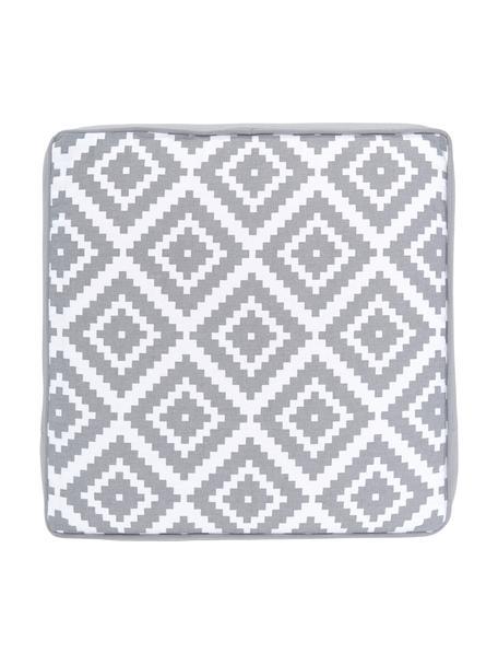 Cuscino sedia alto grigio chiaro/bianco Miami, Rivestimento: 100% cotone, Grigio, Larg. 40 x Lung. 40 cm