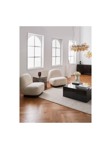 Sillón cóctel Elsie, Tapizado: poliéster, Estructura: madera contrachapada, mad, Tejido blanco crema, An 77 x F 84 cm