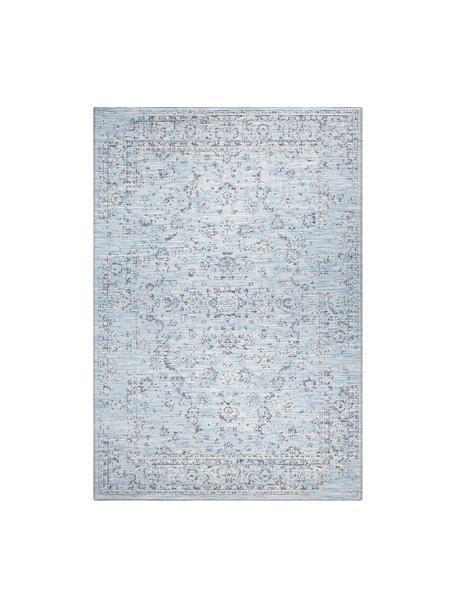 In- & Outdoor-Teppich Orient im Vintage Style, 100% Polypropylen, Blautöne, B 80 x L 150 cm (Größe XS)