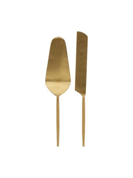 Komplet szpatułek ze stali nierdzewnej Lite, 2 elem., Stal nierdzewna, powlekana, Odcienie złotego, Komplet z różnymi rozmiarami