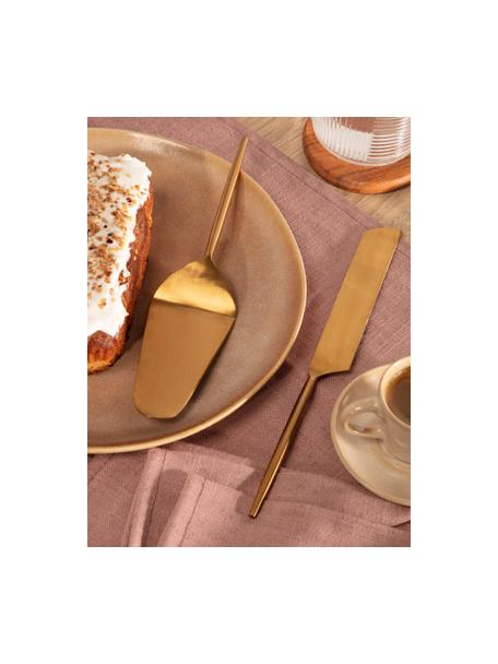 Set 2 posate da torta in acciaio inossidabile Lite, Acciaio inossidabile, rivestito, Dorato, Set in varie misure