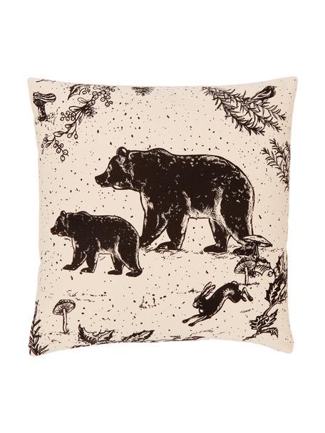 Poszewka na poduszkę Animal Toile, 100% bawełna organiczna Produkt posiada certyfikat GOTS, Beżowy, S 45 x D 45 cm