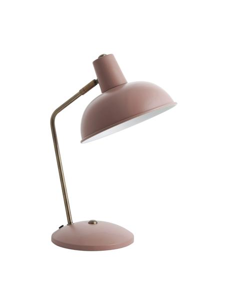 Lampa biurkowa Hood, Lampa: różowy, złoty Klosz wewnątrz: biały, 20 x 38 cm