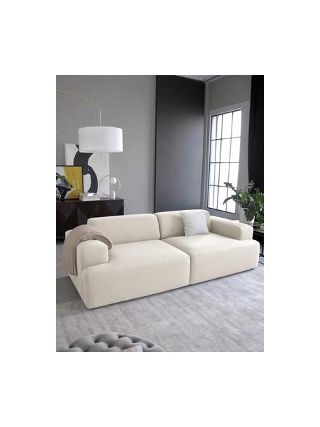 Sofa Melva (3-Sitzer) in Beige, Bezug: 100% Polyester Der hochwe, Gestell: Massives Kiefernholz, FSC, Webstoff Beige, B 238 x T 101 cm