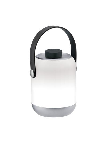 Lampada da tavolo dimmerabile Clutch, Paralume: materiale sintetico, Manico: materiale sintetico, Bianco, grigio, Ø 9 cm