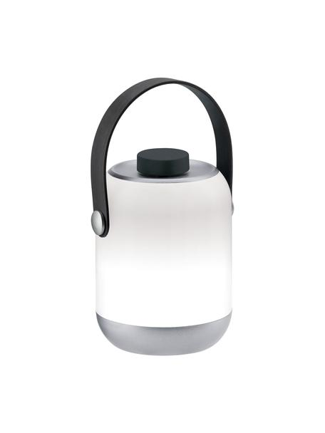 Mobiele dimbare LED tafellamp Clutch, Lampenkap: kunststof, Wit, grijs, Ø 9 x H 12 cm