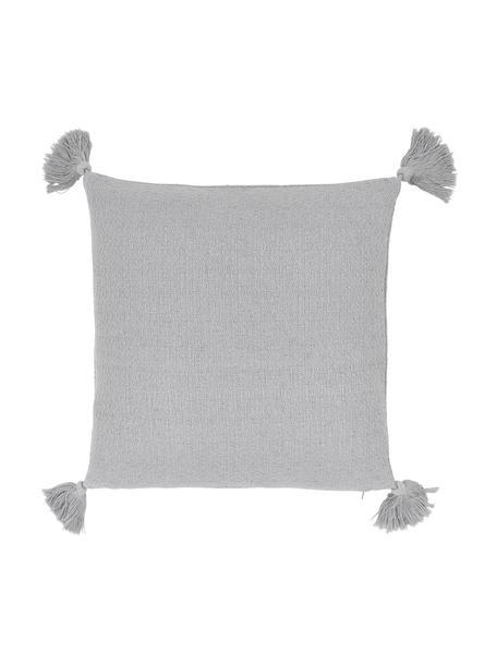 Kissenhülle Lori in Hellgrau, 100% Baumwolle, Grau, 40 x 40 cm
