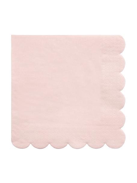 Serwetka z papieru Simply Eco, 20 szt., Papier, Blady różowy, S 33 x D 33 cm