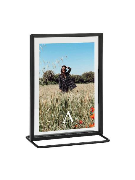 Bilderrahmen Memo, Rahmen: Metall, beschichtet, Front: Glas, Schwarz, 13 x 18 cm