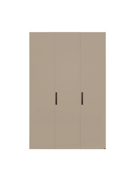 Kledingkast Madison in beige, 3 deuren, Frame: panelen op houtbasis, gel, Zandkleurig, 152 x 230 cm