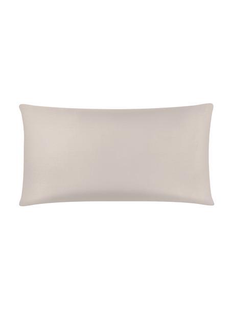 Funda de almohada de satén Comfort, 45x85cm, Gris pardo, An 45 x L 85 cm