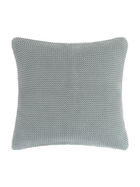 Funda de cojín de punto Adalyn, 100%algodón, Verde salvia, An 50 x L 50 cm
