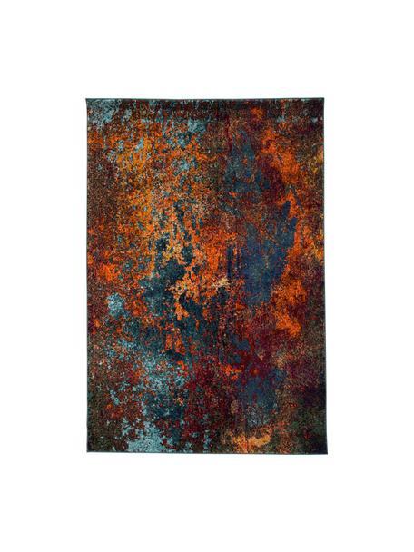 Vloerkleed Celestial, Bovenzijde: 100% polypropyleen, Onderzijde: jute, Roodtinten, blauwtinten, groen, 120 x 180 cm