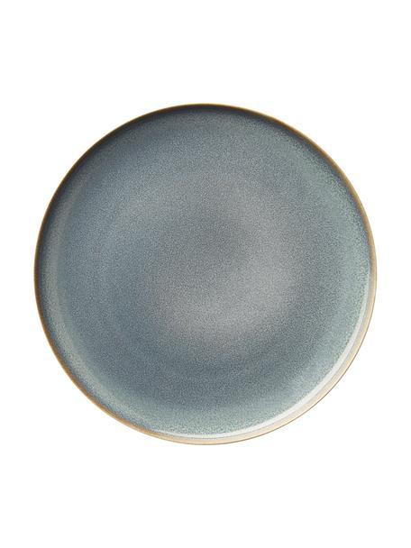 Talerz śniadaniowy z kamionki Saisons, 6 szt., Kamionka, Niebieski, Ø 21 cm