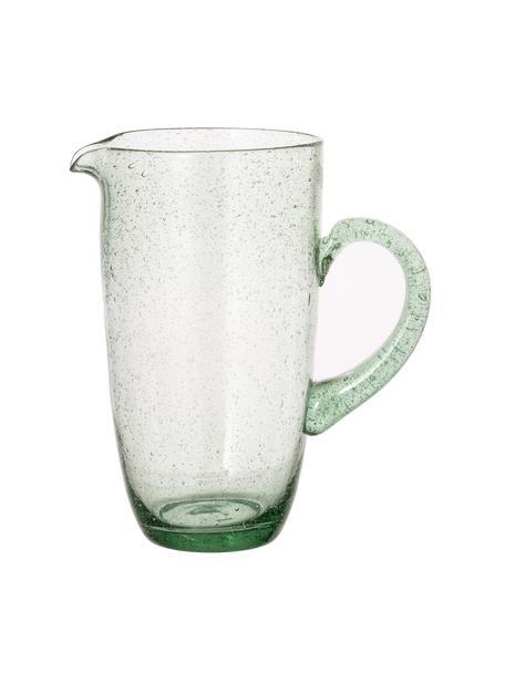 Brocca verde chiaro con bolle d'aria Victor, 1.1 L, Vetro, Verde chiaro, Alt. 21 cm