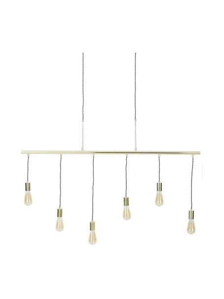 Grote hanglamp Pole in goudkleur, Frame: vermessingd staal, Fitting: aluminium, vermessingd, Baldakijn: vermessingd staal, Messingkleurig, 135 x 92 cm