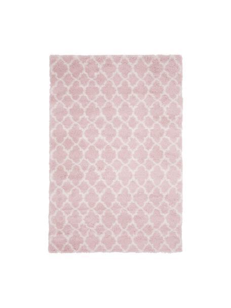 Hochflor-Teppich Mona in Altrosa/Creme, Flor: 100% Polypropylen, Altrosa, Cremeweiß, B 200 x L 300 cm (Größe L)