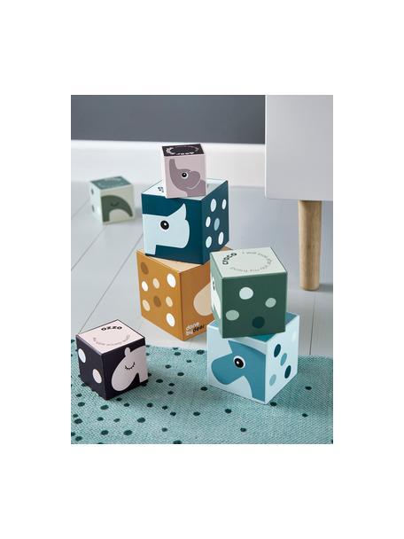 Set 8 cubi impilabili Deer Friends, Cartone, laminato, Multicolore, Set in varie misure