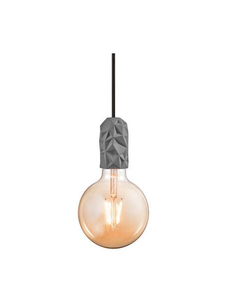 Lampa wisząca z porcelany Hang, Szary, Ø 5 x W 9 cm