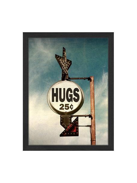 Oprawiony druk cyfrowy Hugs For 25C, Wielobarwny, S 33 x W 43 cm