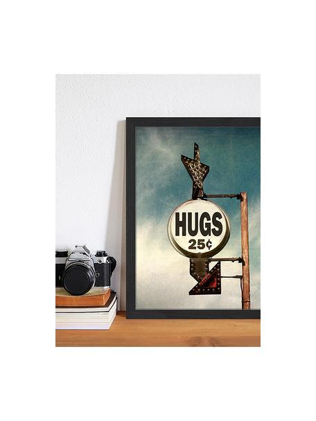 Stampa digitale incorniciata Hugs For 25C, Immagine: stampa digitale su carta,, Cornice: legno verniciato, Multicolore, Larg. 33 x Alt. 43 cm