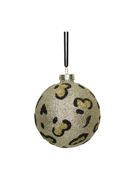 Weihnachtskugeln Krave Ø 8 cm, 2 Stück, Goldfarben, Schwarz, Ø 8 cm