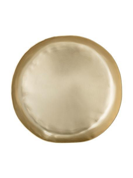 Serveerplateau Gerdi van aluminium in goudkleur, Ø 21 cm, Gecoat aluminium, Messingkleurig, Ø 21 cm