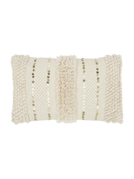Funda de cojín texturizada Jolina, 100%algodón, Beige, An 30 x L 50 cm