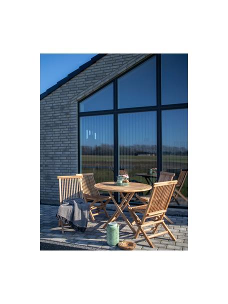 Klappbarer Gartentisch Oviedo aus Teakholz, Teakholz, Teakholz, Ø 100 x H 75 cm