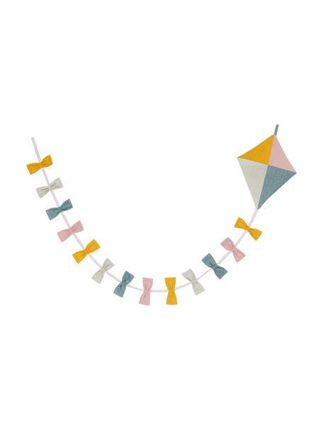 Girlande Kite aus Bio-Baumwolle, 180 cm, 100% Biobaumwolle, Mehrfarbig, L 198 cm