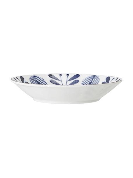 Ciotola da portata in porcellana fatta a mano Camellia, Porcellana, Bianco, blu, dorato, Ø 18 x Alt. 4 cm