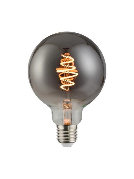 E27 peertje, 5 watt, dimbaar, warmwit, 1 stuk, Peertje: glas, Fitting: metaal, Grijs, transparant, Ø 10 x H 14 cm