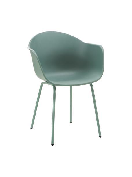 Silla para exterior Claire, Asiento: 65%plástico, 35%plástic, Patas: metal con pintura en polv, Verde, An 60 x F 54 cm