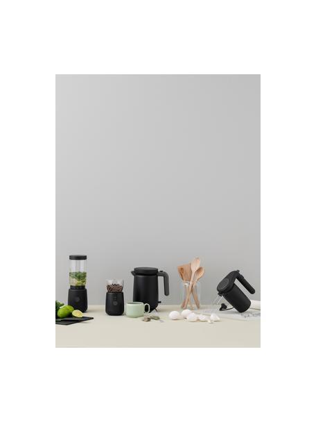 Molinillo de café Foodie, Cuerpo: plástico, Recipiente: vidrio de borosilicato, Negro, Ø 10 x Al 18 cm