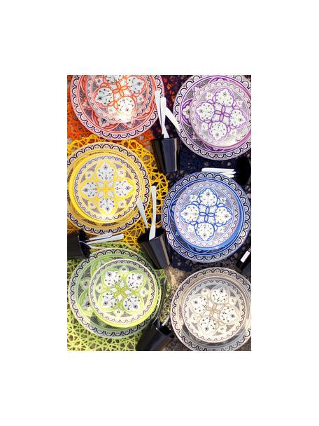 Set 18 piatti fantasia colorata per 6 persone Marocco, Multicolore, Set in varie misure