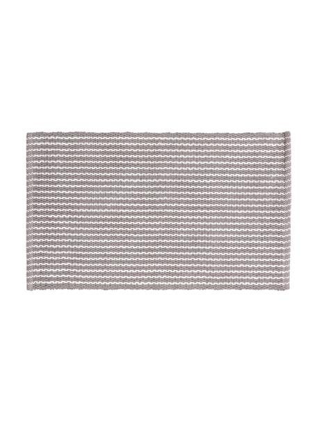 Dywanik łazienkowy Bono, 100% bawełna, Szary, biały, S 50 x D 80 cm