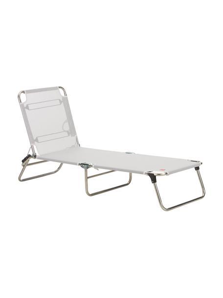 Leżak Fiam Amigo, Stelaż: aluminium, Tapicerka: tkanina z tworzywa sztucz, Srebrnoszary, D 190 x S 58 cm