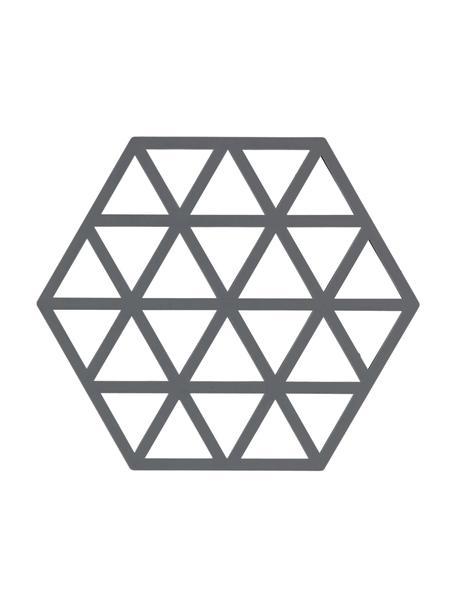 Sottopentola in silicone grigio Triangle 2 pz, Silicone, Grigio, Lung. 16 x Larg. 14 cm