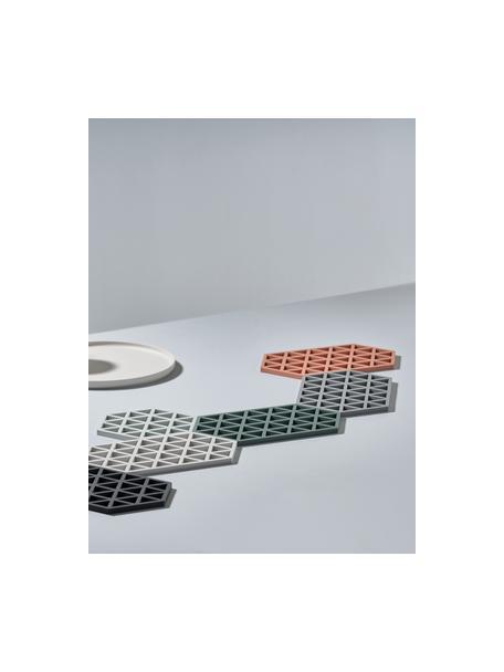 Salvamanteles de silicona Triangle, 2uds., Silicona, Gris, L 16 x An 14 cm