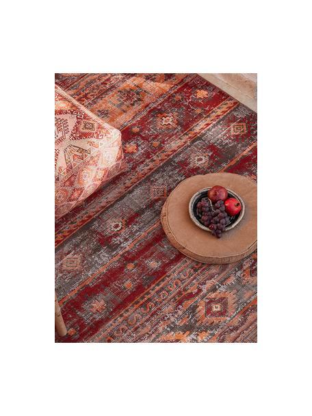 In- & Outdoor-Teppich Tilas Istanbul in Dunkelrot, Orient Style, 100% Polypropylen, Dunkelrot, Senfgelb, Khaki, B 120 x L 170 cm (Größe S)