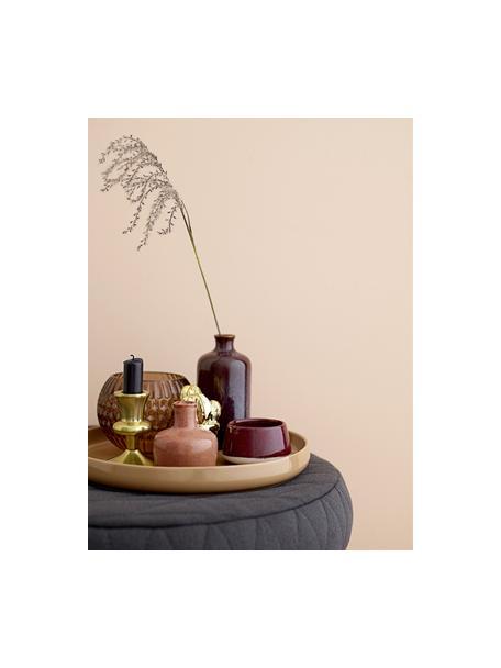 Teelichthalter-Set Punti, 2-tlg., Steingut, Rosa, Rot, Weiß, Sondergrößen