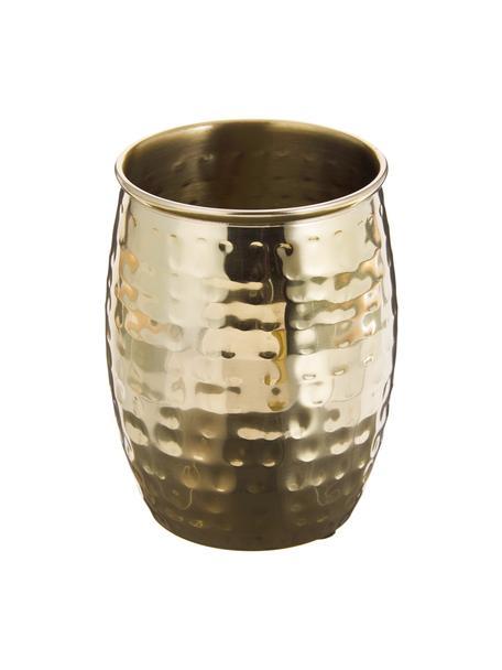 Tandenborstelbekers Anetta, 2 stuks, Gecoat roestvrij staal, Messingkleurig, Ø 9 x H 10 cm