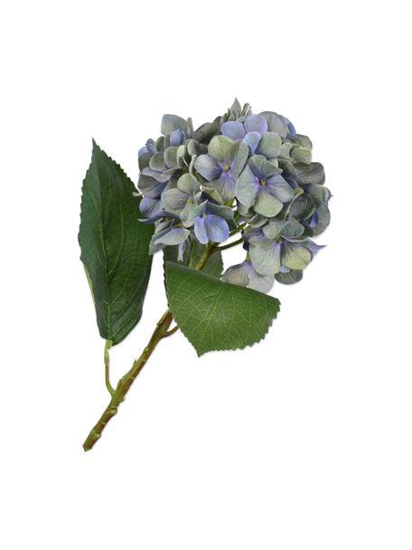 Kunstblume Hortensie, Blau, Kunststoff, Metalldraht, Blau, L 56 cm